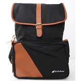 PULCHER Backpack [B-01] - Black - Backpack Pria
